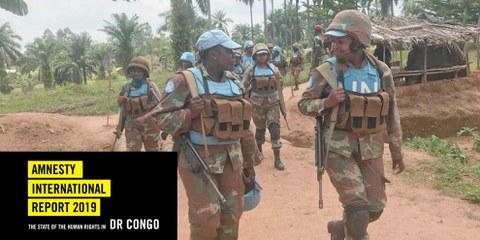 Südafrikanischen Soldatinnen einer Monusco-Kampfeinheit  in Nord-Kivu im Januar 2019. © Monusco via flickr