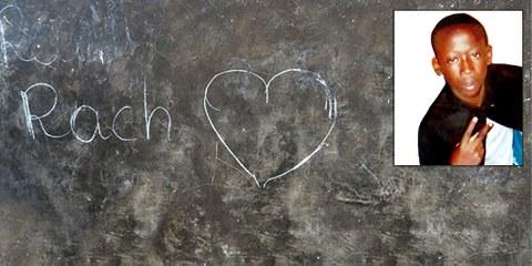 Wandzeichnung zur Erinnerung von Rachad Maman / kleines Bild: Rachad Maman © Amnesty International / kleines Bild: Privat
