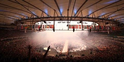 Eröffnung der Olympischen Spiele im Maracana-Stadion, 5. August 2016. © Getty Images