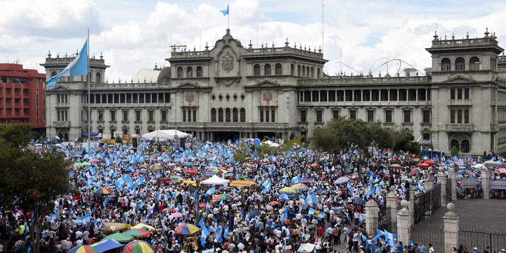 Die Versammlungsfreiheit und der faire Zugang zu Recht und Gerechtigkeit sind in Guatemala in Gefahr. © Johan Ordonez_AFP_Getty Images