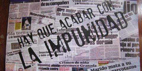 Poster im Haus des nicaraguanischen Netzwerks gegen Gewalt gegen Frauen (Red de Mujeres Contra la Violencia).