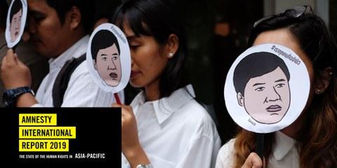 Protest in Bangkok, Juli 2019 © Candida Ng/AFP (via Getty Images)