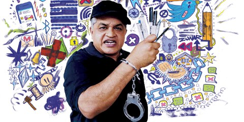 Zulkiflee Anwar Ulhaque alias «Zunar» (Kampagnenbild von Amnesty) © Amnesty International