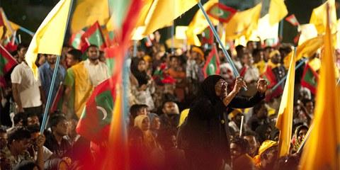 Demonstration in Male für Neuwahlen © Mohamed Muha/Demotix