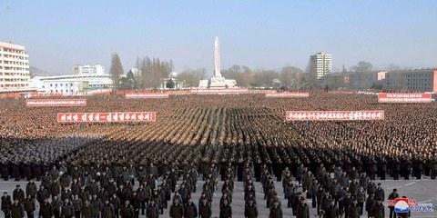 Militärparade im Dezember 2017, nach einem Raketentest © STR/AFP/Getty Images