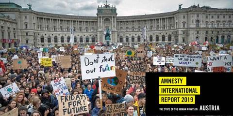 Auch in Wien fanden 2019 grosse Demonstrationen für mehr Klimagerechtigkeit statt. © Mitja Kobal
