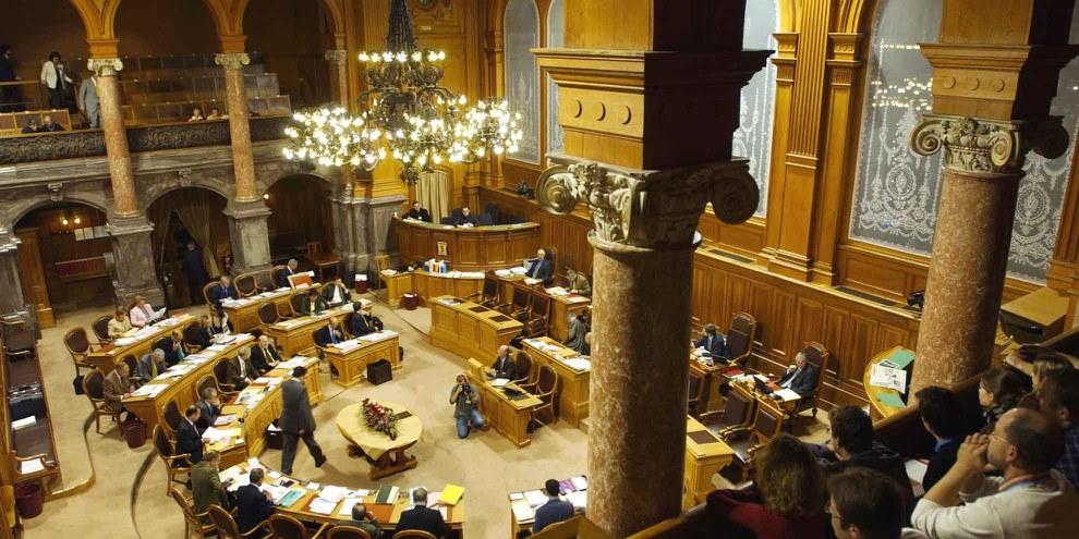 Der Ständeratssaal. © parlament.ch