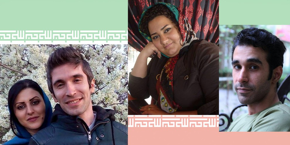 Arash Sadeghi und Golrokh Ebrahimi Iraee / Atena Daemi / Omid Alishenas (von links nach rechts) © Privat