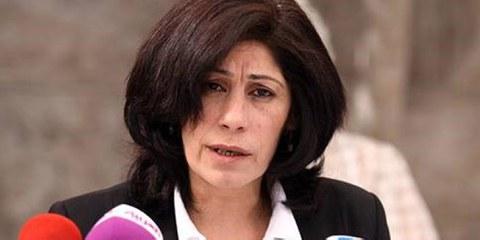 Die palästinensische Menschenrechtsaktivistin Khalida Jarrar geriet ins Fadenkreuz der israelischen Militärjustiz © Addameer Prisoner Support and Human Rights Association