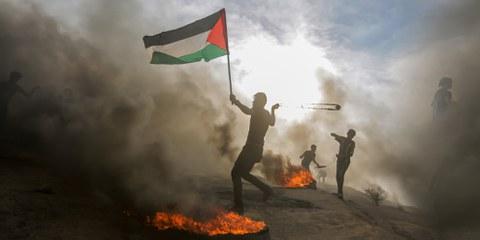 Palästinenser an Demonstration an der Grenze zwischen Gaza und Israel, 7. Dezember 2018. © hosny f. salah  / shutterstock