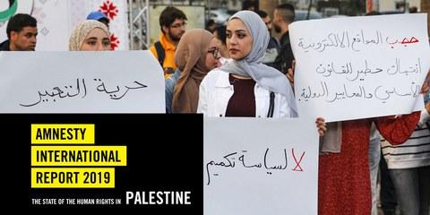 Jahresbericht Palästina 2019