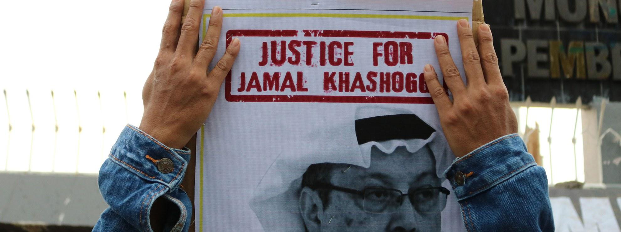 Überall auf der Welt gab es Proteste gegen die brutale Ermordung des saudischen Journalisten Jamal Khashoggi, wie hier in Makassar, Indonesien. © Herwin Bahar / shutterstock.com
