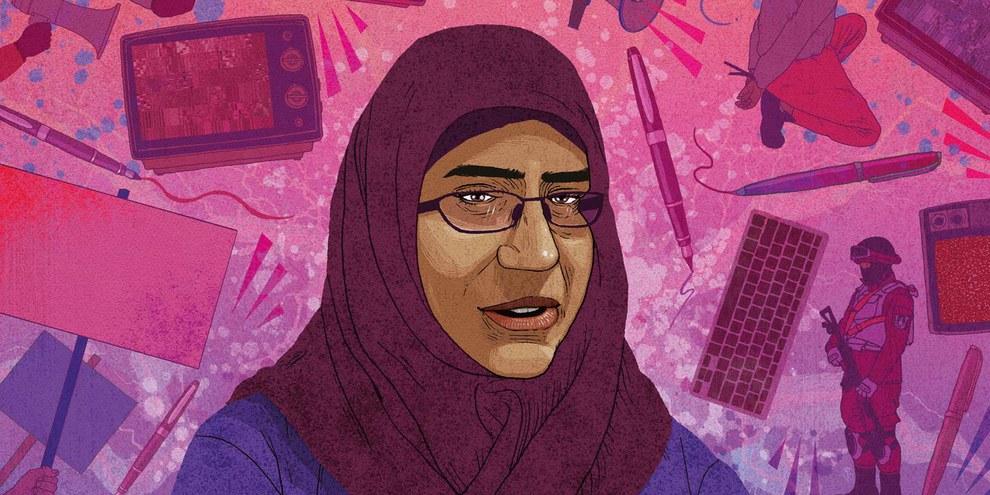 Die ägyptische Menschenrechtsaktivistin Hanan Badr el-Din © Rebecca Hendin