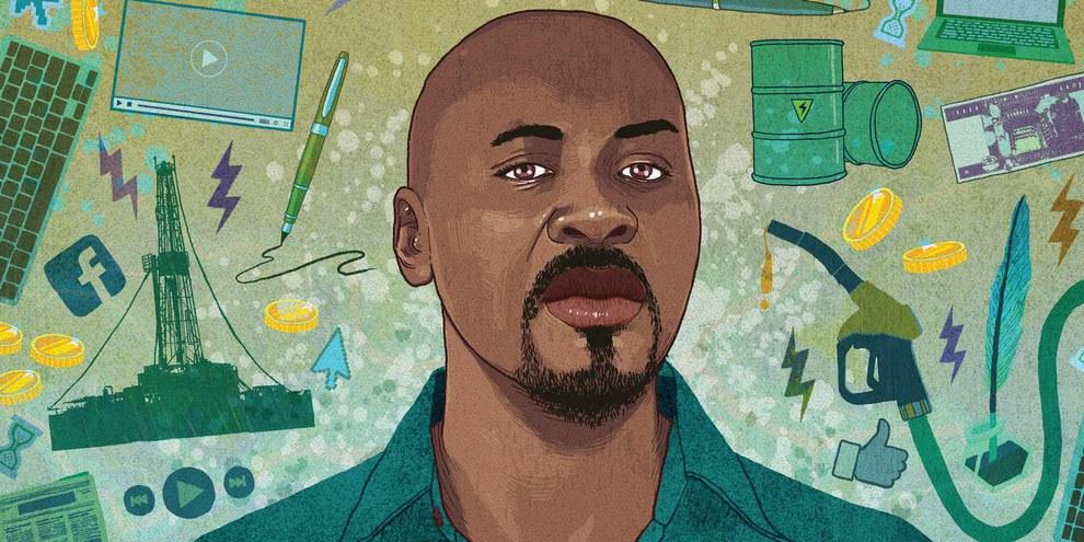 Mahadine, inhaftierter Online-Aktivist im Tschad © Rebecca Hendin