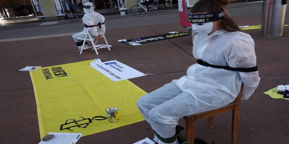 Aktion der Frauenrechtsgruppe in Bern © AI