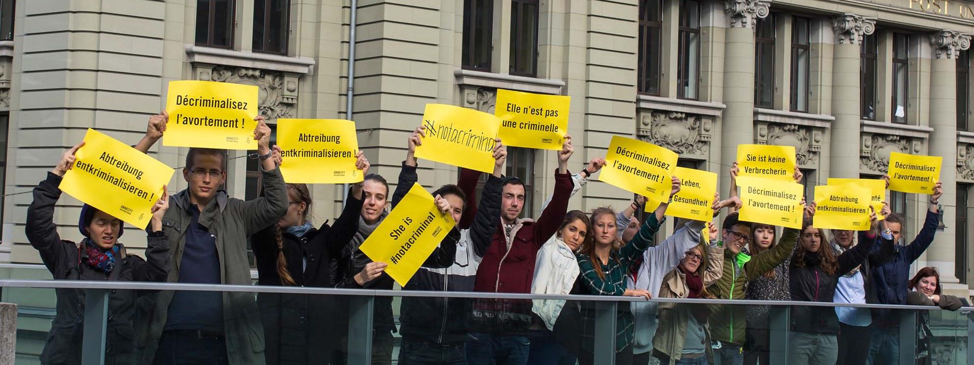 Aktion zur My Body, My Rights Kampagne © Amnesty International Michael von Bergen