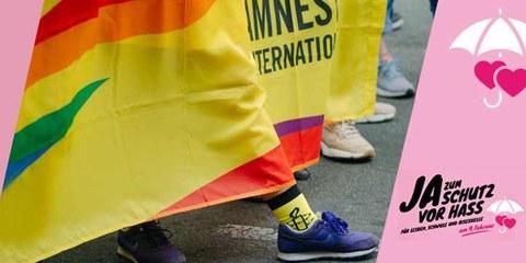 Amnesty begrüsst das «Ja» zum Schutz vor Hass und Hetze!