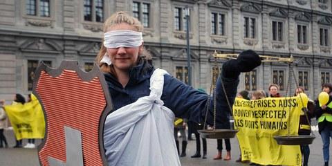 Aktion an der Students' Conference 2018 in Zürich © Amnesty International