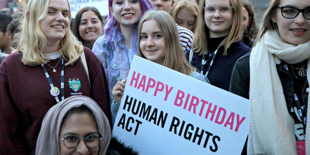 Feier zum Jubiläum des Human Rights Acts © Amnesty International UK