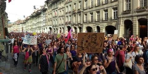 Grève des femmes, Berne, le 14 juin 2019. © AI