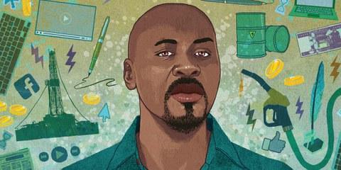 Mahadine, blogueur emprisonné au Tchad © Rebecca Hendin