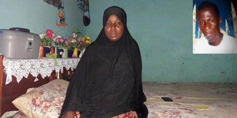 Aissatou Lamarana Diallo / Petite photo à droite: son époux Thierno Sadou Diallo © Amnesty International