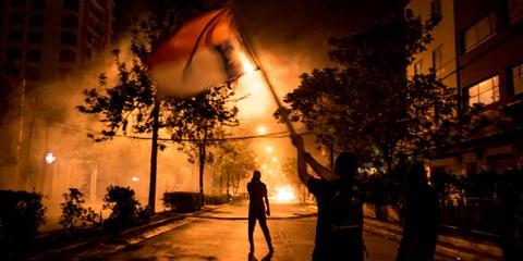 Les émeutes qui secouent actuellement le Chili ont déjà fait une quinzaine de morts. ©Mateo Lanzuela