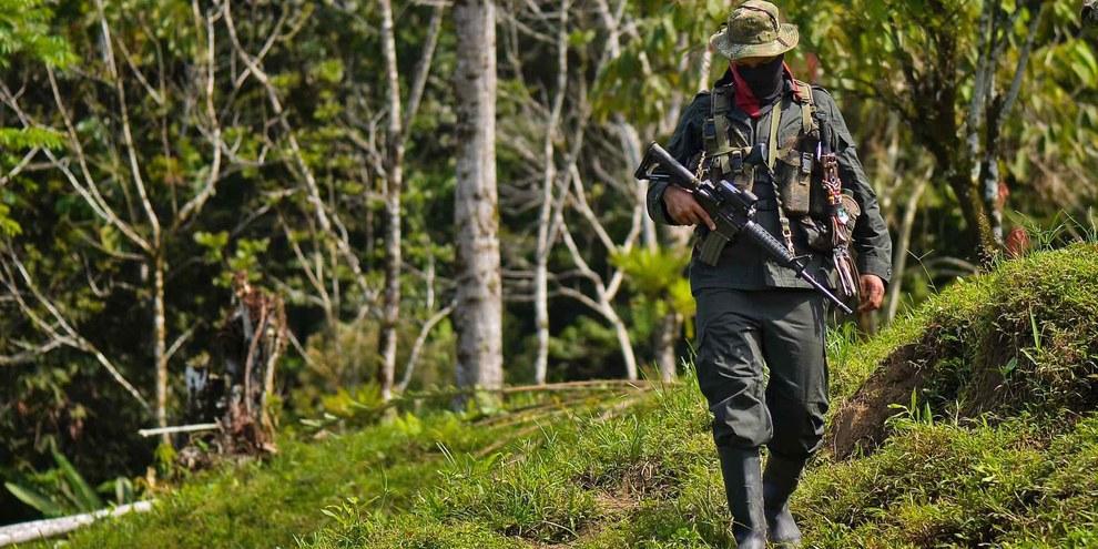 La région de Catatumbo, dans le nord-est de la Colombie, fait l'objet d'une nouvelle vague de violences provoquée par des affrontements entre l'Armée de libération nationale (ELN), l'Armée populaire de libération (EPL). © Luis Robayo/AFP/Getty Images