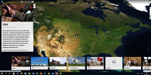 Screenshot du site avec la carte interactive. © AI