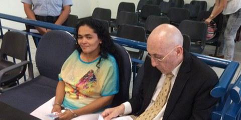María Teresa Rivera avait été condamnée à 40 ans de prison après avoir fait une fausse couche à l'âge de 33 ans. © Charles Abbott - Center for Reproductive Rights