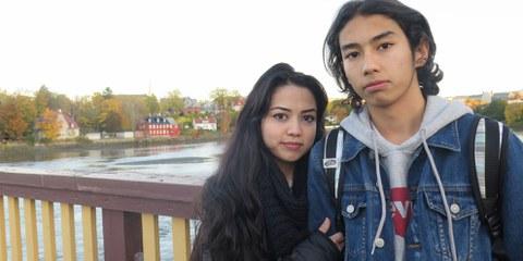 La famille de Taibeh a fui l'Afghanistan ravagé par la guerre pour chercher refuge en Iran. Victimes de discriminations, ils ont fini par se réfugier en Norvège et risquent maintenant d'être renvoyés en Afghanistan © Amnesty International.