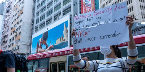 Le 25 mai 2020, des milliers de personnes ont manifesté à Hong Kong contre la loi sur la sécurité nationale. ©Jimmy Siu / shutterstock.com