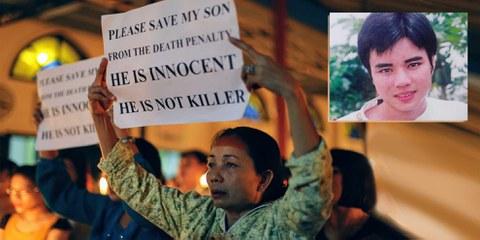 La maman de Ho Duy Hai / Image en haut à droite: Ho Duy Hai © Droits réservés