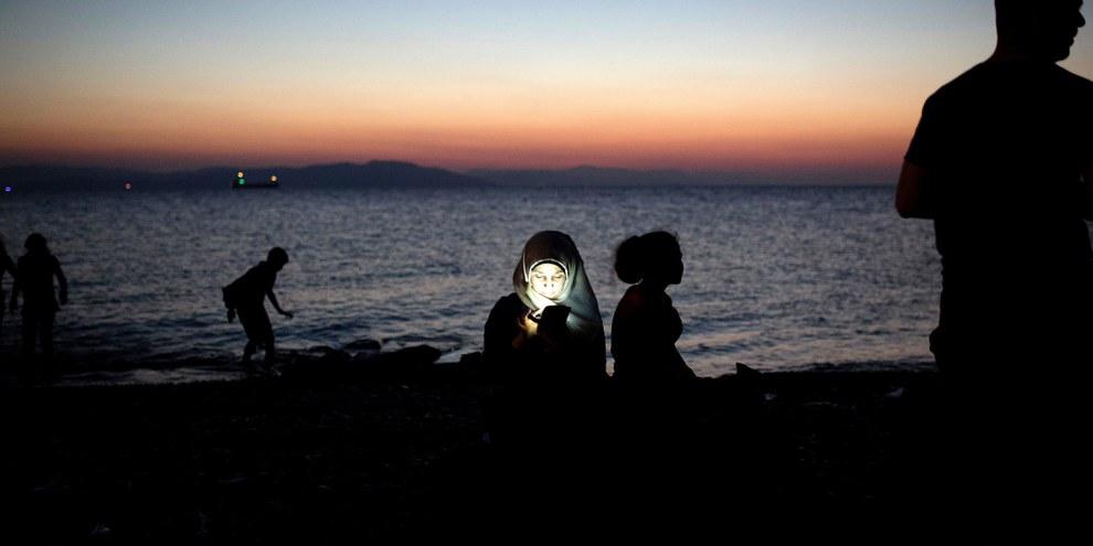 La majorité des réfugiés et des migrants qui arrivent en Grèce sont des femmes et des enfants © Amnesty International