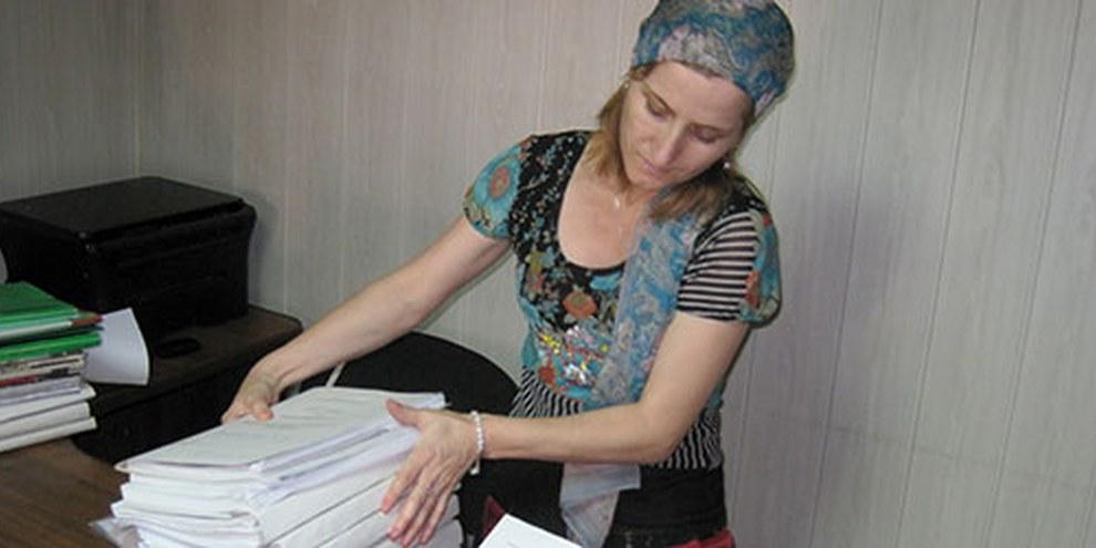 Sapiyat Magomedova, avocate au Dagestan, a été agressée par la police en 2010. © Privé