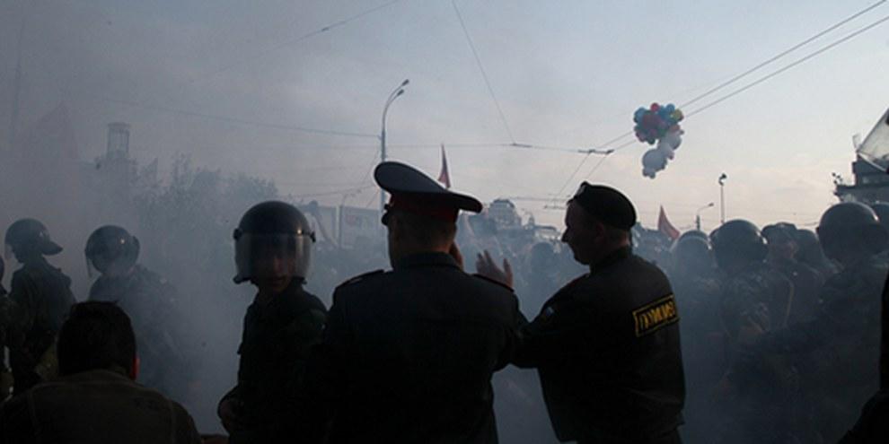 Les manifestations contre le retour de Poutine à la présidence en mai 2012 ont donné lieu à une série de restrictions. © Maria Pleshkova / Demotix