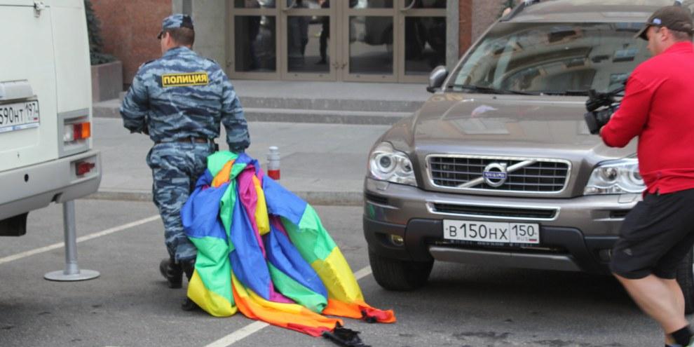 40 personnes ont été arrêtées par la police à la Pride de Moscou le 27 mai 2012 © Amnesty International