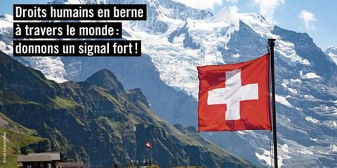 Les droits humains sont menacés : Donnons un signal fort! © AICH