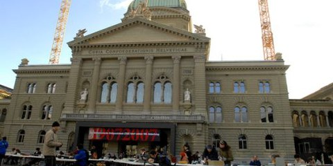 Le palais fédéral à Berne