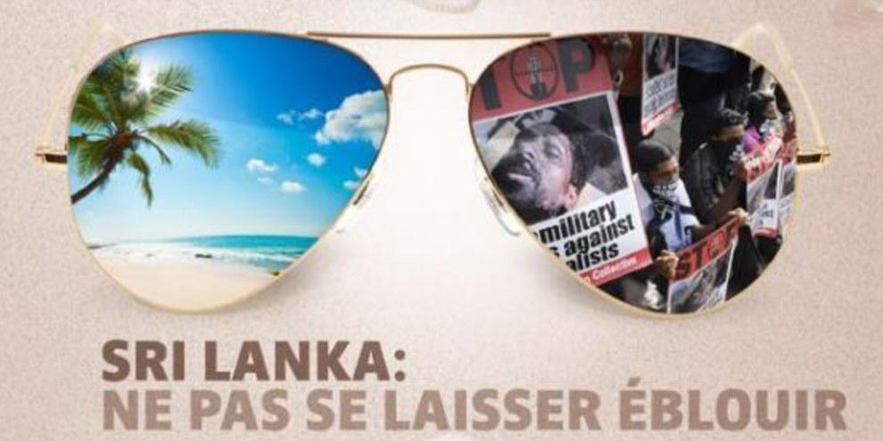 Malgré les promesses du gouvernement, la situation des droits humains au Sri Lanka reste problématique (campagne de 2013) © AI