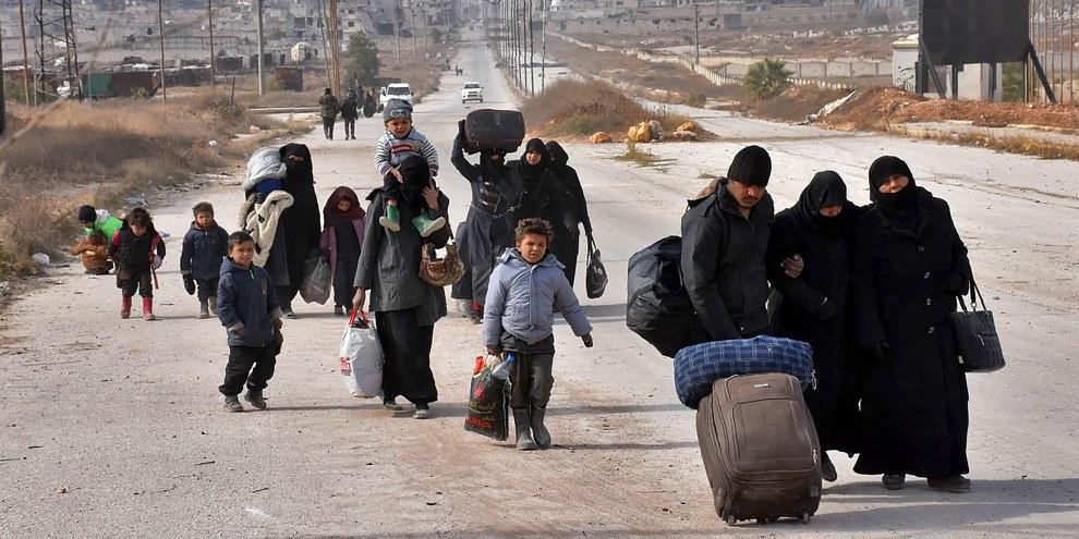 Plus de 4,8 millions de réfugiés syriens se trouvent dans seulement cinq pays, à savoir la Turquie, le Liban, la Jordanie, l'Irak et l'Égypte. © GEORGE OURFALIAN/AFP/Getty Images
