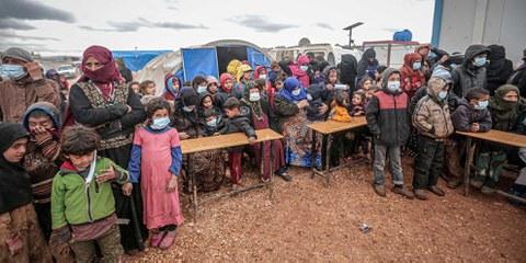 Il est essentiel que l'aide humanitaire aux personnes déplacées se poursuive. ©Anadolu Agency/Getty Images