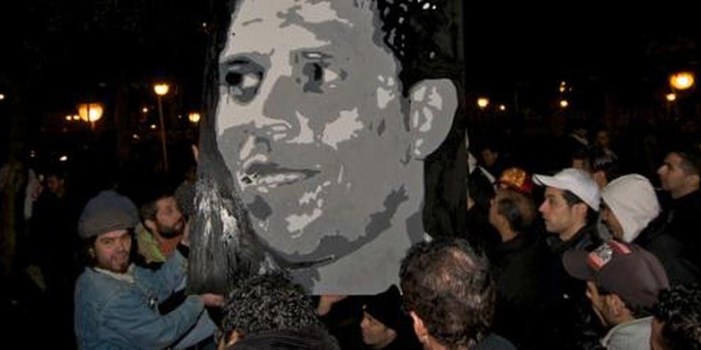 Mohamed Bouazizi, icône de la révolution tunisienne. © Christopher Belsten