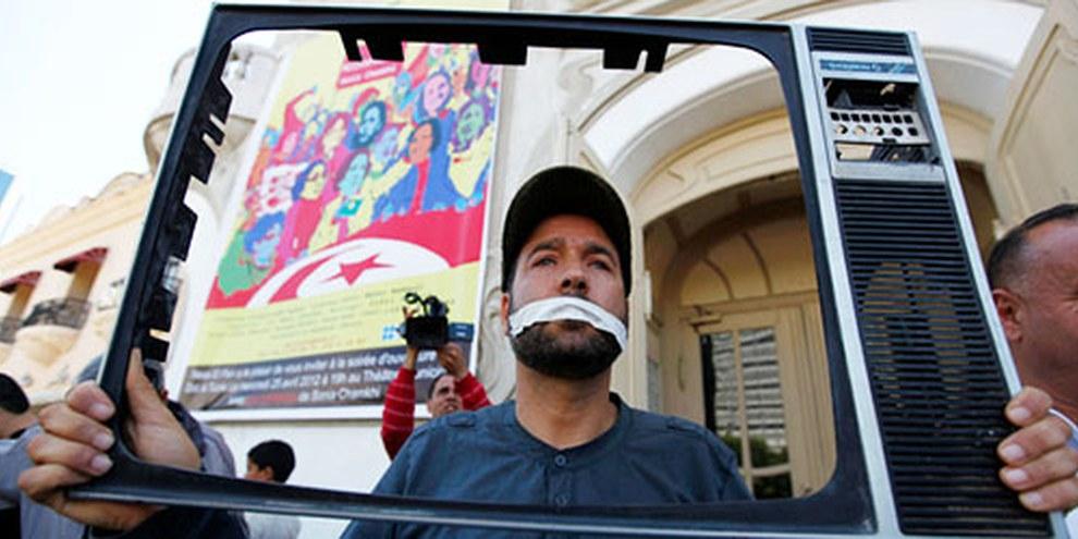 Des réformes de la législation tunisiennes doivent être entreprises afin que la liberté des médias soit garantie. © REUTERS/Anis Mili