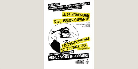 Discussion ouverte sur la CEDH et l'initiative anti-droits humains
