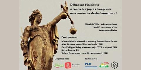 Débat sur l'initiative anti-droits humains