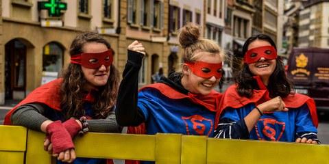 Plus de cent actions de rue pour sensibiliser la population à l'importance de la Convention européenne des droits de l'homme ont été organisées dans toute la Suisse.© AI