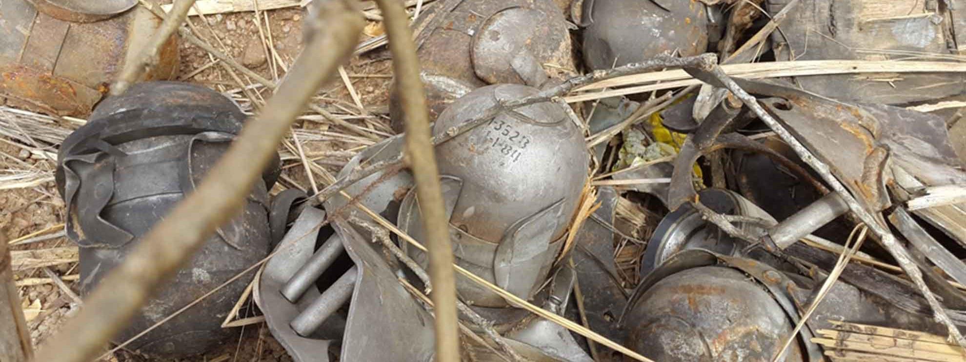 Résidus d'une bombe à fragmentation retrouvés dans une maison du Sud Kordofan, Soudan. Février 2015. © Amnesty International