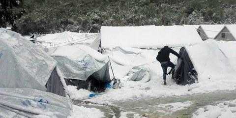 Réfugié dans le camp de Moria sur Lesbos. © Giorgos Kosmopoulos