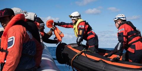 L'accord conclu devrait garantir que les personnes secourues en Méditerranée centrale seront débarquées rapidement et en sécurité en Europe© Chris Grodotzki / Sea-Watch.org